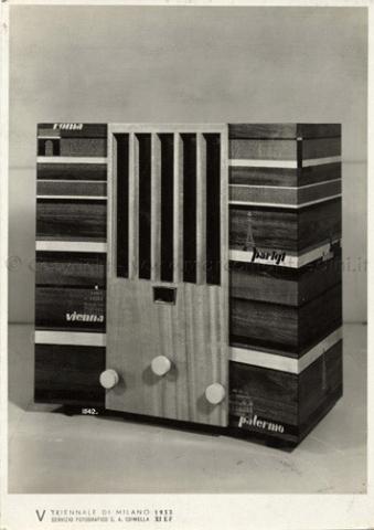 1933 - V Triennale di Milano - padiglione della radio Mostre  storiche